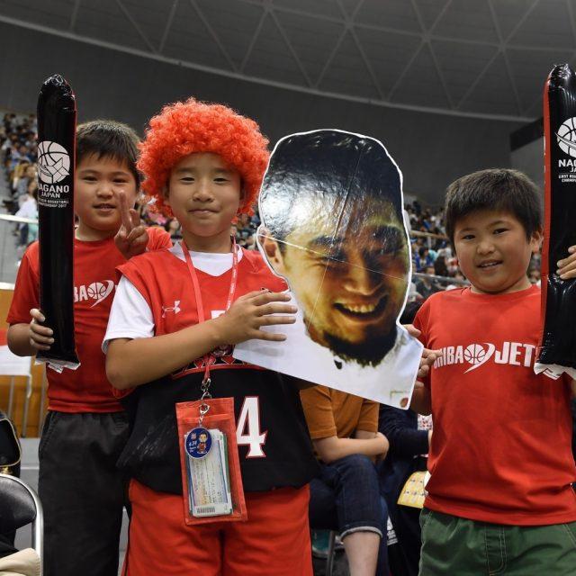 #34 小野 龍猛選手(千葉ジェッツ)の応援に駆けつけたジェッツファン