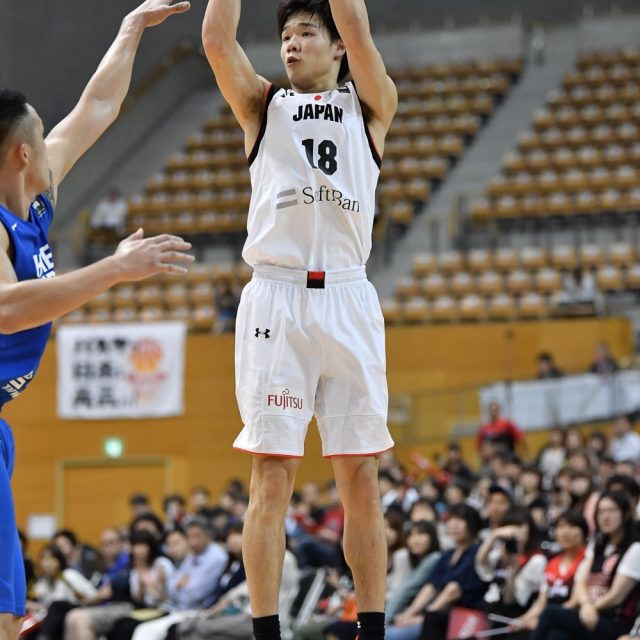 #18 馬場 雄大選手(筑波大学 4年)の3Pシュート